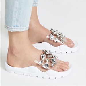 Jeffrey Campbell Aspic Embellished Sport Slide NWB